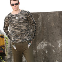 Wholesale Free Army Brand Fashion camouflage t shirt men Flocking Printing O Callor English Style Sport Men s T Shirts MS B