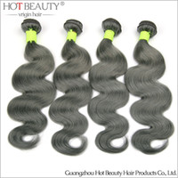 beauty products - New Arrival A Russian Virgin Hair Grey Blue hair Body wave Unprocessed remy Hair Hot Beauty Hair Product