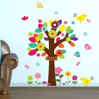 beautiful posters - 3D Large flower Tree Home Decorations Removable Wall Sticker Beautiful Mural decals poster wallpaper