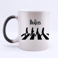 beatles coffee cup - Sing Band The Beatles Customized Water Coffee Mug Personalized Mugs Ceramic Morphing Coffee Cups Gift Two Sides Printed