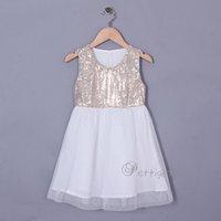 low price dresses - Pettigirl Girls Summer Dresses Factory Low Price Sequins White Princess Kids Dresses Children Clothes GD50412