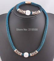 Wholesale 2015 NEW Shamballa Crystal Disco Ball Magnetic Clasp Stardust Necklace Bracelet Jewelry Set Statement Necklace JJAL