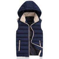 add down outerwear - Fall Winter male add fertilizer increased down cotton vest large yards cotton vest oversize plus size outerwear coats
