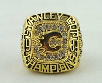 Wholesale 18k gold plated fashion pc stanley cup championship finger rings size