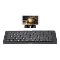 Wholesale White Black Foldable Wireless Bluetooth Keyboard for iPhone Google Samsung Android Smartphone Tablet Laptop