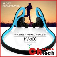 bicycle earphones - Ultra Bluetooth Wireless Sports Rainproof Earphones HV With Microphone Handfree for Running Gym Hiking Jogger Bicycle