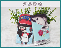 mobile case - Lovely Cartoon Painting Cover PU Leather case for DIY with size cold fit for inch size mobile phone with DHL