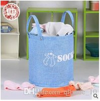 Wholesale Vintage Multifunction Household Jute Storage Basket Foldable Jute Hessian Sack Characters Printed Snack Fruit Sorted Basket LJJC1492