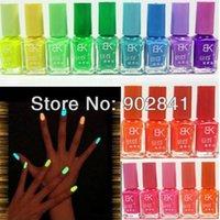 Cheap Summer Popular Fluorescent Neon Nail Art Polish Glow In Dark Nail Varnish 7ml