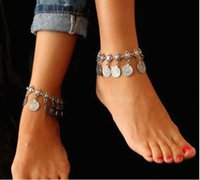 anklet jewelry for women - 2016 Popular Coin Anklets Jewelry Chains Silver Gold Plated Feet Anklets Bracelet For Women Retro Bridal Accessories For Beach Weddings