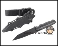 airsoft knife - US Army Airsoft Tactical AC Plastic Knife for Hunting Training Outdoor Camping Survival Cosplay Knife Model Black order lt no track