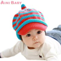 accessories lateral - Lateral Stripe Knitting Wool Kid Beanies Baby Infant Toddler Girl Cap For Boy Warm Hat Child Winter Hat Baby Thick Accessories