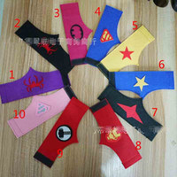 Wholesale 20 Design Super hero Iron Man Superman Captain America Hulk Spider Man wristband Halloween Xmas party cosplay armguard arm Wrist B