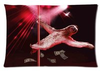 Cheap Free shipping Hot Pillow Cover Sloth Bear Stripper Pole Dancing Custom Throw Pillow Case best new year gift 20x30 inch 2 sides