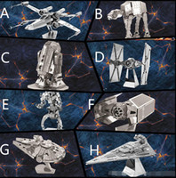 Wholesale DHL Design D Metal Puzzles Star Wars R2D2 airship Kids DIY Puzzle Toys new Children Educational Toys RK87887