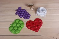 Ice Cream Makers apple makers - Apple love Grape shape ice cube ice lattice Silicone ice tray