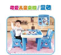 Wholesale Baby s desk Kindergarten furniture suits Children combination table Children desk and chair plastic table