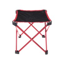 Wholesale New Arrival Outdoor Aluminum Portable Foldable Folding Fishing Chair Tool Square Camping Stool Size L Red