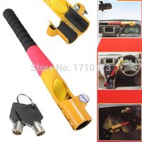 lock auto security - Brand New Security Anti Theft Auto Car Truck High Security Baseball Steering Wheel Lock With Keys