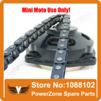 49cc mini bike parts - Mini Moto cc cc Drive System links loops Chain with Gear Box And Rear Sprocket Fit Mini Moto Pocket Bike