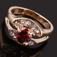 austrian cakes - Latest Goods Sell Like Hot Cakes K Gold Plated Austrian Crystal Wedding Rings for Women Fashion Jewelry