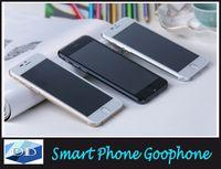 Wholesale Goophone Original G i6 phone i6 plus MTK6582 Quad Dual Core Metal Body Phone quot Android GB RAM Phone