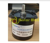 mini stepper motor - 2 r mini V W HZ KTYZ Gear Reducer Motor synchronous center shaft gear motor the length of shaft mm AC geared motor