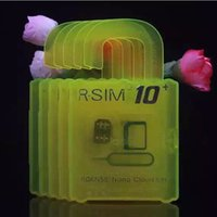 Wholesale Latest Hot Unlock Card Original R SIM RSIM R SIM for iphone S Splus S S IOS GSM CDMA WCDMA G G G unlock sim