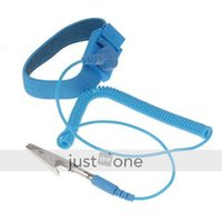 Wholesale Anti Static ESD Wrist Strap Discharge Band Grounding with alligator clip New