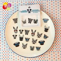 Wholesale 50 bag DIY New Cute Kawaii PVC Stickers Lovely Sweet Lace Animal Sticky Paper for Scrapbooking