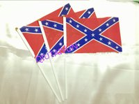 Wholesale Rebel hand signal flag Confederate Rebel Civil War Flag Confederate Flag Confederate Battle Flags Polyester National Flags cm B151