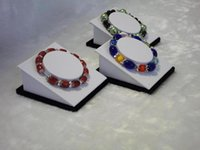 cardboard jewelry boxes - Jewelry Display Stand Bracelcet Display Tower Kit Hold Bangle Bracelet Anklet Wooden Cardboard with White faux Leather