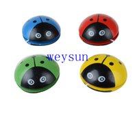 Wholesale Cartoon Ladybug Cute Yoyo Balls Professional Color Wooden Single Bearing Rotation Balls Children Educational Toys