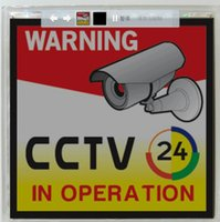 Wholesale Solar Power ABS Material Warning Sign for CCTV Monitor Camera