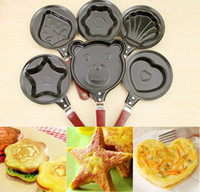 Wholesale cooking egg tools kitchen gadgets Mini cartoon Cake tools pot Fried Egg Pancake love Heart Shape Egg non stick Pan LY
