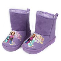 child boots - Fashion Frozen Children Girls Winter Snow Boots Purple Hot Pink Elsa and Anna Sister Boot Shoes For Baby Girls Warm Boots