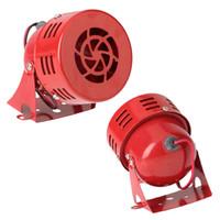 Wholesale 12V quot Automotive Air Raid Siren Horn Car Truck Motor Driven Alarm Red
