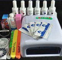 Wholesale Nail Art Pro DIY Full Set Soak Off Uv Gel Polish Manicure set W Curing Lamp Kit Set nail gel nail tools