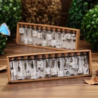 Cheap Creative gifts cute mini clear glass cork stopper wishing bottles vials jars containers small vintage ornaments craft decoration