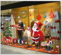Wholesale Merry Christmas Wall Sticker DIY Santa Claus Xmas Tree Decoration Quality Guaranteed Home Decor d wall decoration