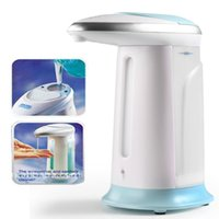 Wholesale ABS Plastic Automatic Liquid Soap Dispenser Handsfree Sanitizer Wall Mounted ml white color order lt no track