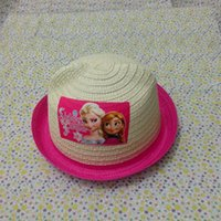 Wholesale Frozen New Children s Day Gift Knitting Hats Summer Elsa Anna Kids Cat Ear Shape Straw Hat Snow Queen Sun Protection Cap YY306