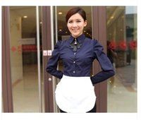 accessories busts - FBH071984 new design fashion solid color bust Short flounced waiter aprons beautiful kitchen accessories