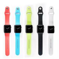 watch silicon gel - 2015 newest Apple Watch Silicon gel bracelet Watchband Strap Classic Buckle mm mm Watch Band Strap for Apple Watch