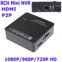 Wholesale 8CH Mini NVR Security IP Camera Recorder Surveillance ONVIF HDMI E SATA HDD Connection USB P P P HD Cloud P2P Black