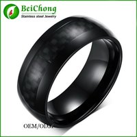 american west jewelry - BC Jewelry New Hot Sale West Fashion jewelry Top grade Black Ceramic Classic Rings Carbon Fiber Male ring for men BC