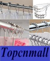Wholesale Hot selling Multi color Polished Satin Nickel Roller ball Shower Curtain Rings Curtain Hooks
