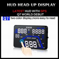 Wholesale 2015 Newest Q7 Universal GPS Car HUD Head Up Display Q7 inch Speed Alarm Time Satellite Number Altitude Projector Head Up Display