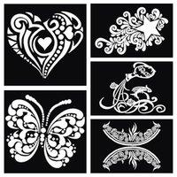 glitter tattoo stencil - Large Airbrush Tattoo Stencil For Painting And Henna Stencil Tattoo Body Paint Glitter Stencil Template Tattoo Kit Tatuagem