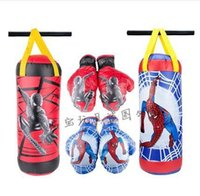 Wholesale New Kids Children Training MMA Spider Boxing Bag Hanging Kick Muay Thai Punching Sandbag With Boxing Gloves saco boxeo